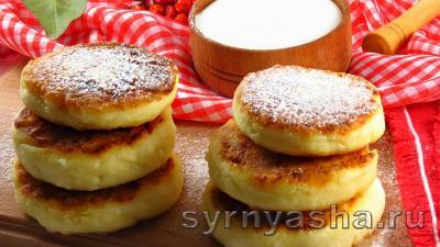 Сырники из творога - рецепт классический на сковороде (7 рецептов)