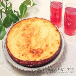 Творожная запеканка со сгущенкой в духовке с манкой