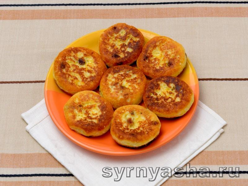 Сырники с изюмом: фото 5