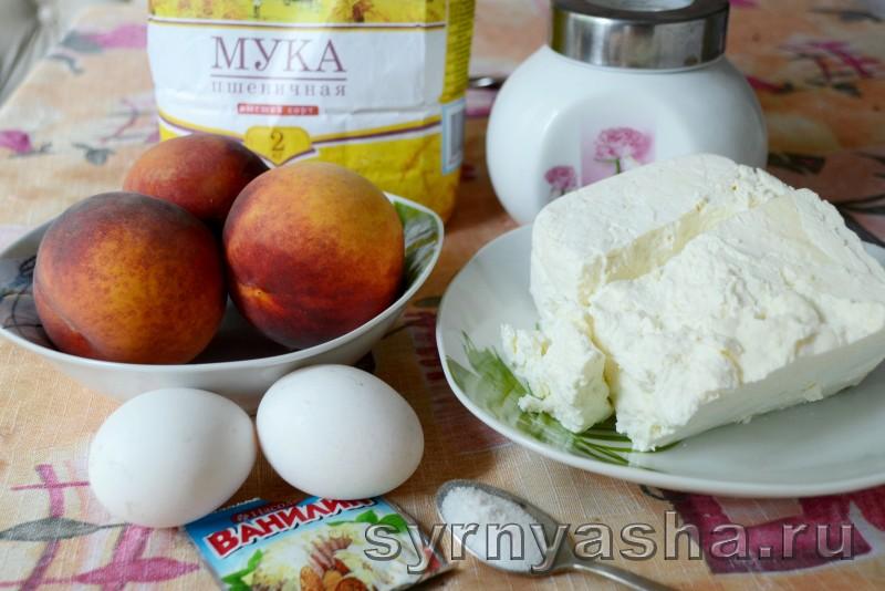 Сырники с персиковым сюрпризом в духовке: фото 1