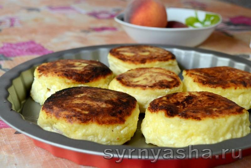 Сырники с персиковым сюрпризом в духовке: фото 9