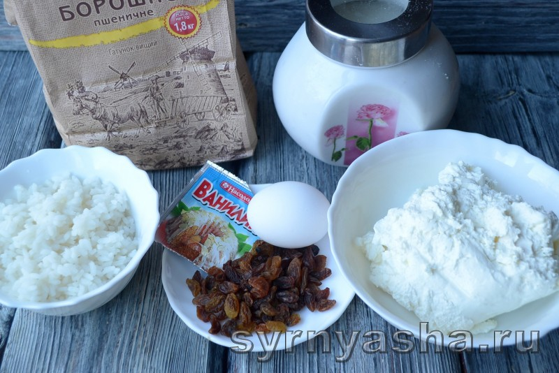 Сырники с рисом и изюмом: фото 1