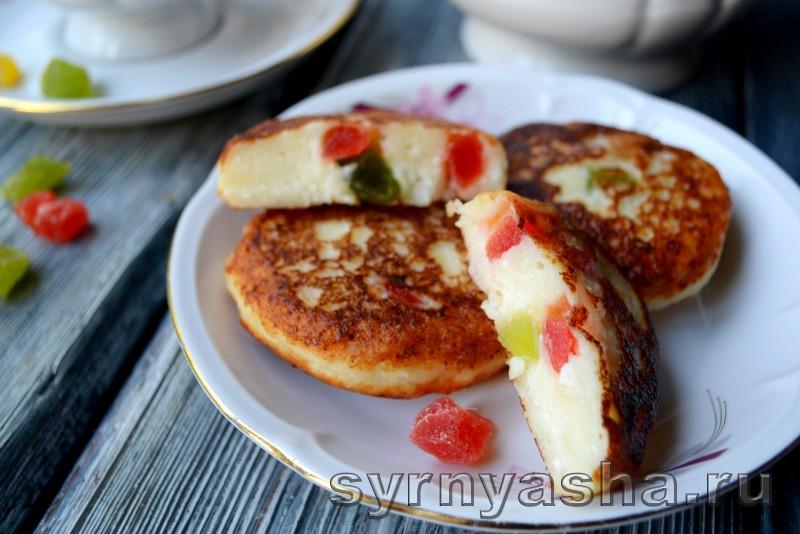 Сырники с цукатами