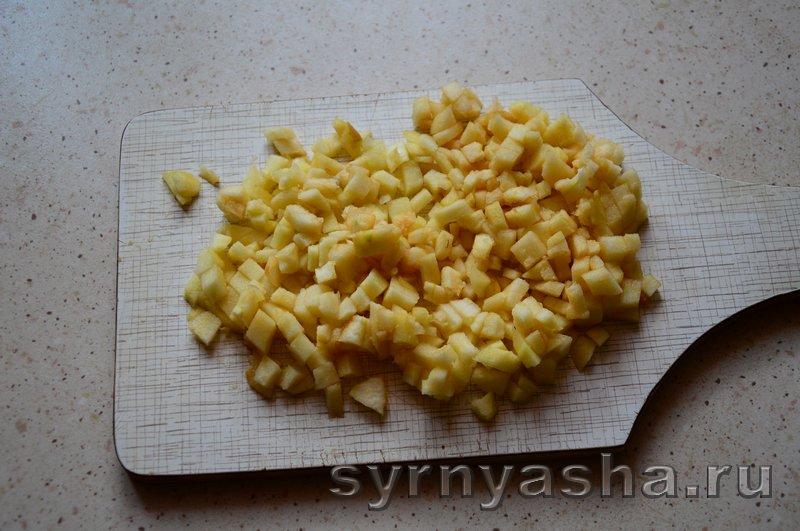 Сырники с яблоками в духовке: фото 4