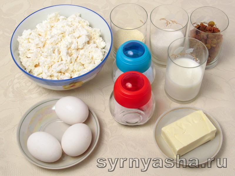 Творожная запеканка с молоком и манкой: фото 1