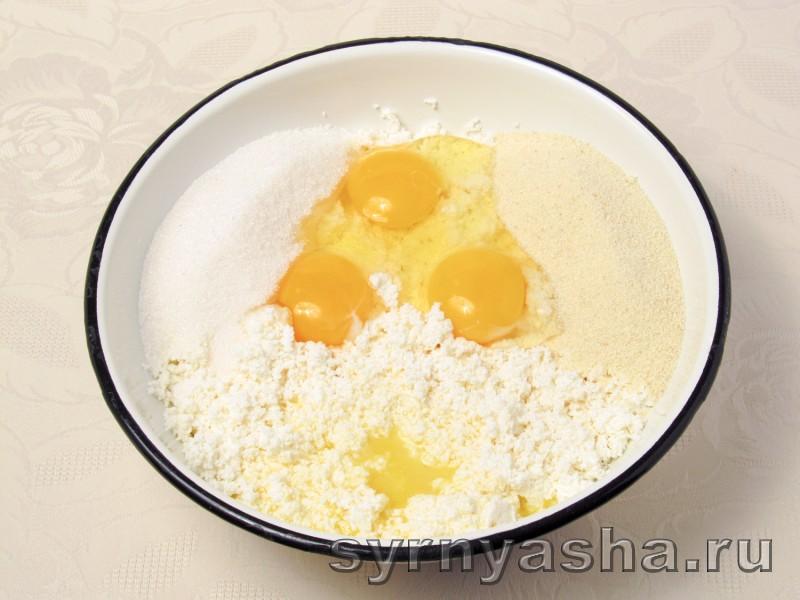 Творожная запеканка с молоком и манкой: фото 3