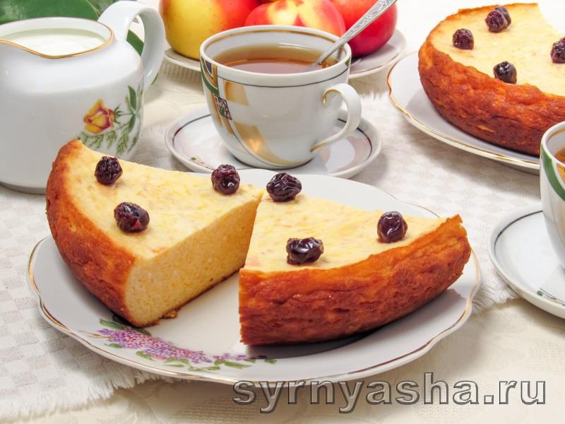 Творожная запеканка с тыквой и яблоками в мультиварке и духовке