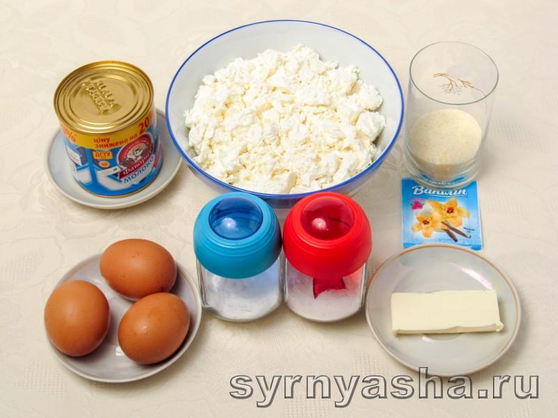Творожная запеканка со сгущенкой в духовке с манкой: фото 1